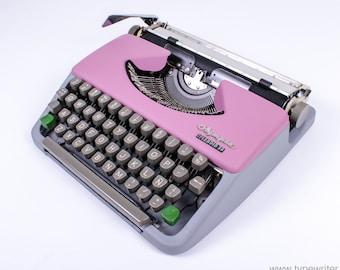 Typewriter.Company Working typewriter - Olympia Splendid 33 - Lila - Violet -  Vintage Portable Typewriter