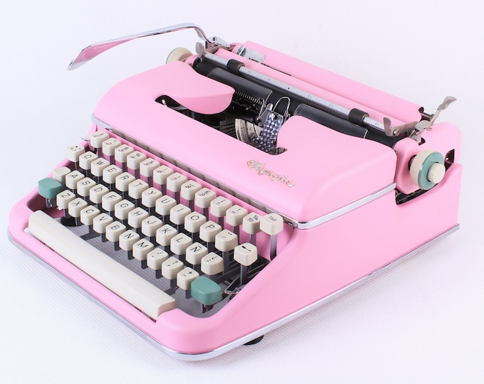 Typewriter.Company - Pink Olympia SM2 /3  - Different shades of pink available -Vintage Working Typewriter - Working Typewriter- qwerty