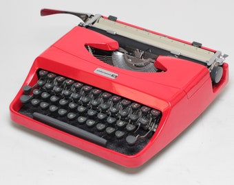 10%OFF!!! Typewriter.Company Working typewriter - Underwood 18 Vintage Portable Typewriter- red qwerty typewriter- high durability car paint