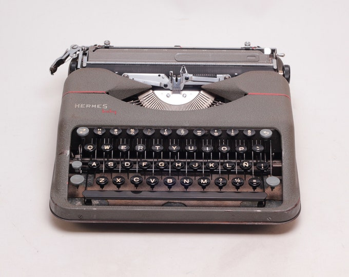 TYPEWRITER HERMES BABY Original - perfectly working vintage typewriter - Professionally Serviced - gift for a writer
