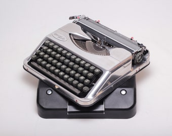 "LIMITED EDITION HERMES Baby ""chrome"" silver mint condition perfectly working typewriter - Professionally Serviced"