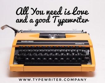 TYPEWRITER SILVER REED 280 perfectly working vintage typewriter - Professionally Serviced