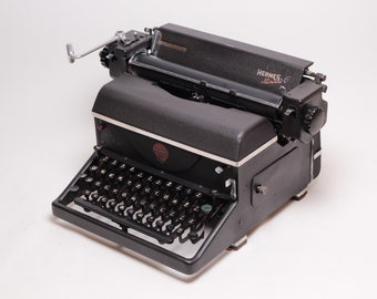 HERMES STANDARD 6 - perfectly working vintage typewriter - Professionally Serviced - gift for a writer