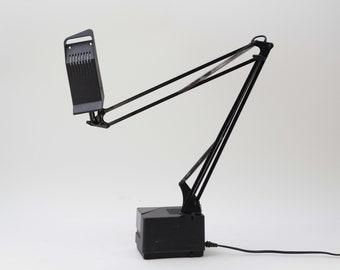Black FASE LAMP - Vintage desk lamp - Gift - Mid Century lamp - Industrial lamp -  Adjustable lamp - Table  Lamp