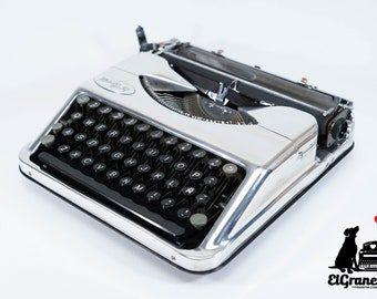 "LIMITED EDITION HERMES Baby ""chrome"" silver mint condition perfectly working typewriter- Professionally Serviced"