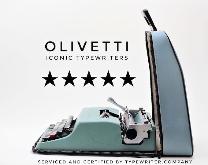 ICONIC OLIVETTI LETTERA 32 - mint condition perfectly working vintage typewriter - Professionally Serviced - gift for a writer