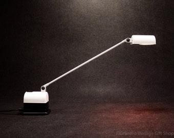 Italian LUMINA DESK LAMP - Vintage white desk lamp -Office Industrial lamp - Adjustable  Drafting Table Lamp