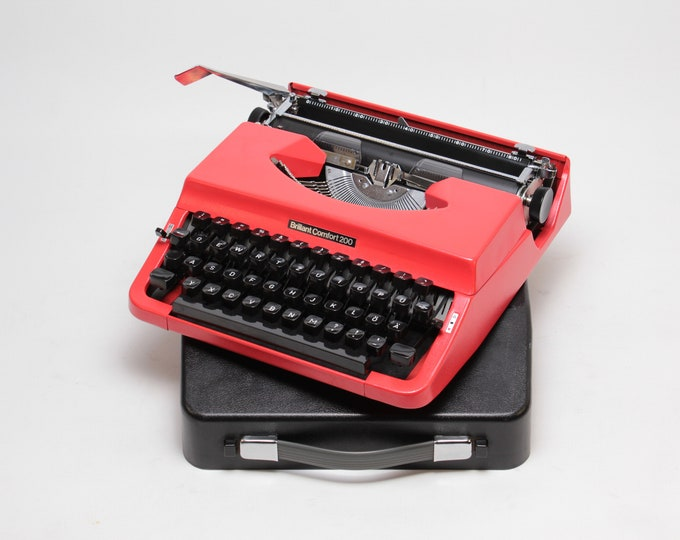 Typewriter.Company Working typewriter - Brillant Comfort 200 -  Vintage Portable Typewriter - red qwertz typewriter