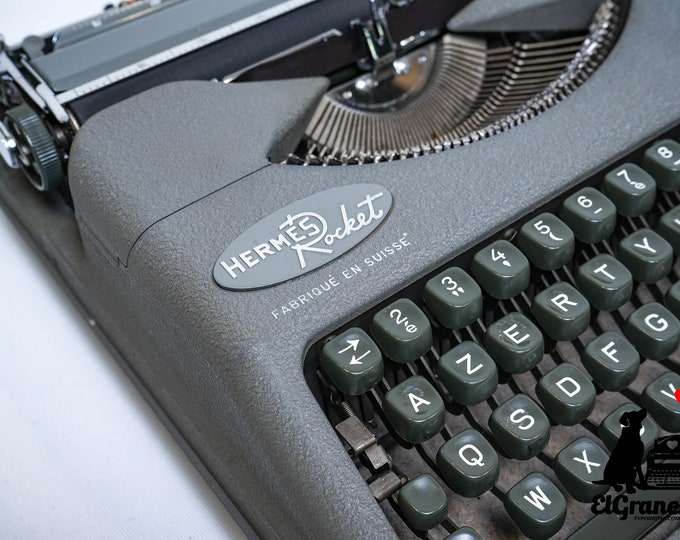 Typewriter.Company QWERTY Hermes Rocket - very good vintage condition working typewriter - 1956 typewriter - rare typewriter