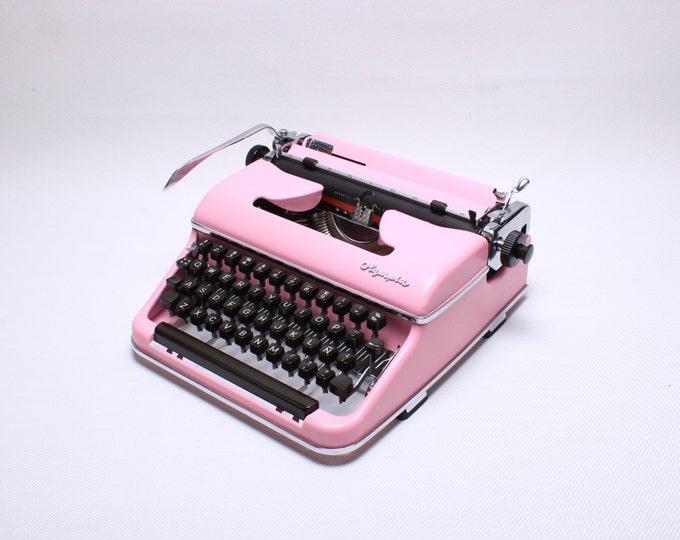 BEST GIFT! PINK Typewriter Olympia SM3  -  German Typewriter -  Custom Typewriter - qwerty
