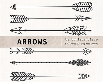 Hand Drawn clipart arrows, arrows clipart, Navaho clipart, arrows, Native American Style