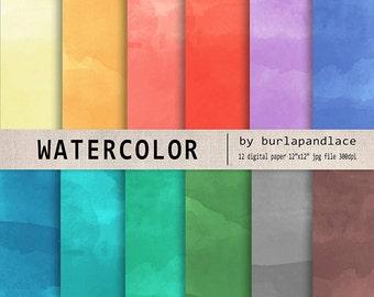 Digital paper watercolor, digital patter watercolor, watercolor background, rainbow background, digital watercolor