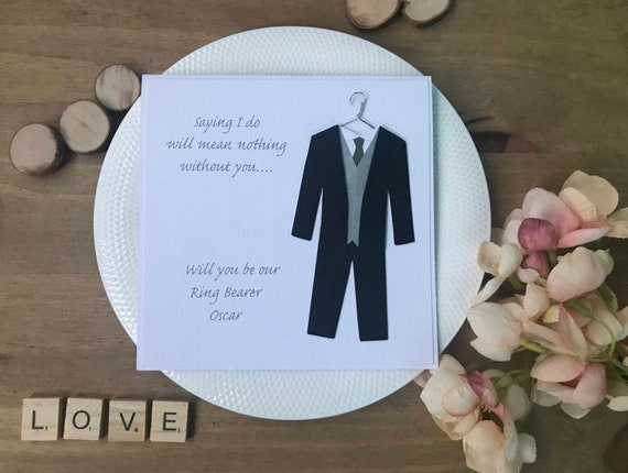 Wedding Party Will You Be My Page Boy Groomsman Wedding Proposal Card Usher Best Man Page Boy Card Wedding Guest Card Wedding Card