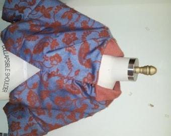 Reversible wool cape