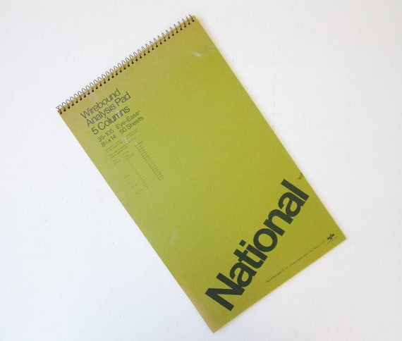 vintage analysis pad accounting ledger paper pad vintage etsy