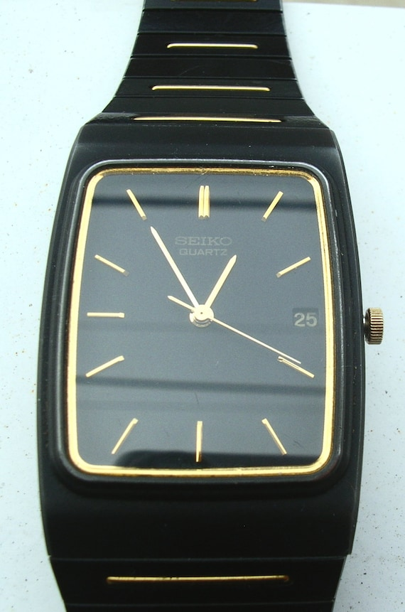 Vintage Men's SEIKO Quartz Date & Time Watch, Work