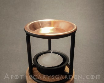 Resin Incense Heaters-Less smoke-More fragrance-Effective and affordable-Tealight Powered-Copper & Steel