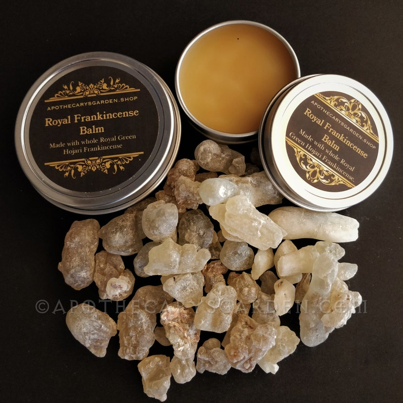 Royal Frankincense Balm, joint pain, skin, www.apothecarysgarden.shop