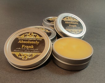 """Absolutely Frank- Moustache and Beard wax.-A pure Frankincense Resin Grooming wax-Made with the sensuous """"Black"""" Somali Frankincense."""
