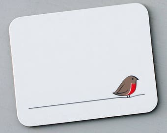Robin Placemat, Robin Red Breast, Robin Gift, Red Robin Decor, For Robin Lovers