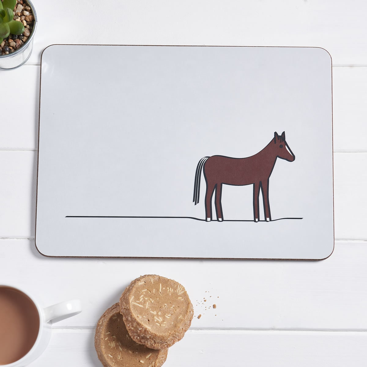 Horse Placemat Horse Gifts Animal Placemat Horse Decor | Etsy