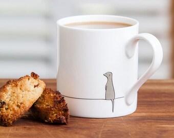 Meerkat Mug, Meerkat Gift, Fine Bone China Mug, Stylish and Cute Gift for Meerkat Lovers