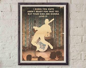 20% OFF!! Back to the Future Movie Poster - Print Show - Vintage Style Magazine Retro Print Cinema Studio Watercolor Background