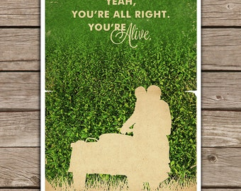 Week Discount ! Garden State Quotes Movie Poster  Vintage Style Magazine Retro Print Watercolor Background - Pick your Size