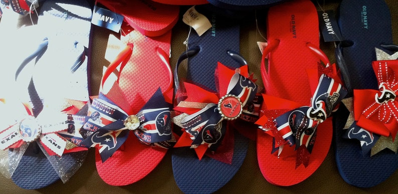 09b650a5 Texans Flip Flops