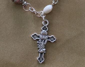 Hand Made Catholic First Communion Rosary Bracelet