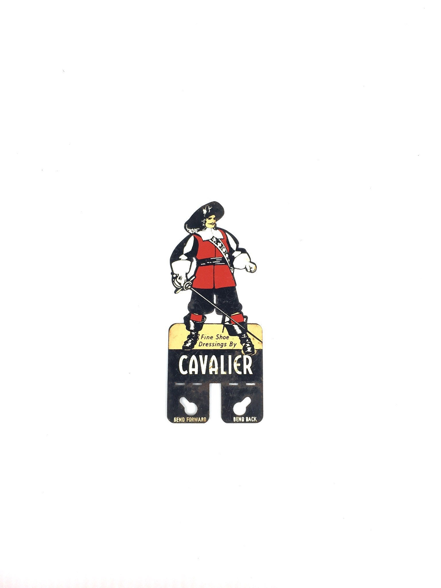 Antique Cavalier Shoes Advertising Topper Rare 1930s Boot Die Cut Metal Cavalier Boot 1930s Die Cut Advertising Topper 06cfbe