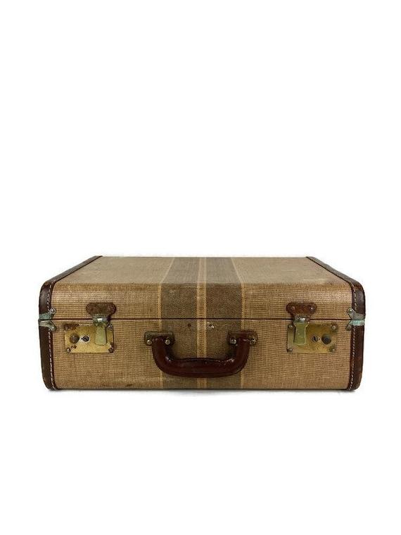 Vintage suitcase  Distressed suitcase  Brown suitcase  Antique suitcase  Vintage luggage  Travel suitcase  Leatherette suitcase