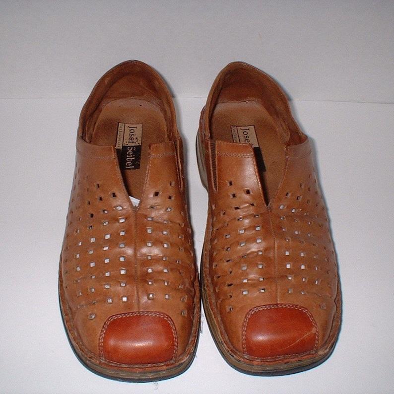 29c2ba11c57b7 Josef Seibel Walking Loafer Shoes Slip Ons Flats 2 Tone Chestnut Brown Size  40 like 8.5 M