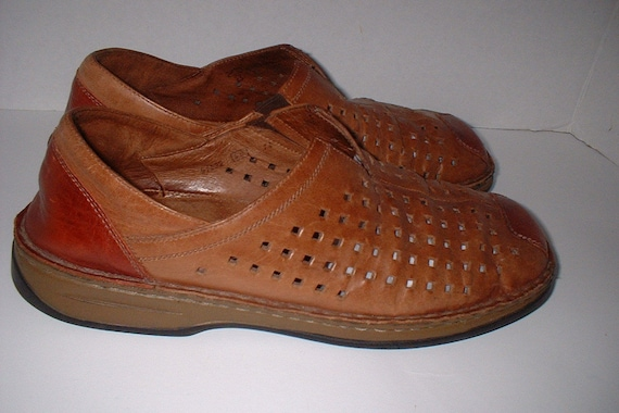 sports shoes d9bd0 e6cdb Josef Seibel Walking Loafer Shoes Slip Ons Flats 2 Tone Chestnut Brown Size  40 like 8.5 M
