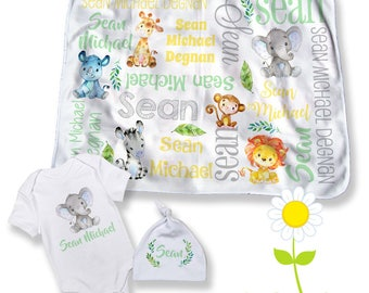 Safari baby gift etsy safari animal personalized baby negle Image collections