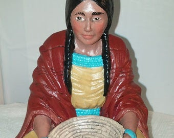 Indian Maiden with Basket