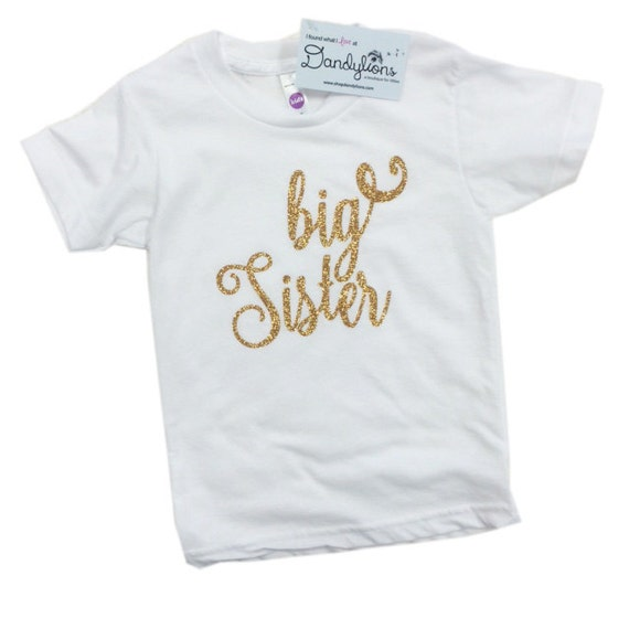 Items similar to Big Sister Tee - Baby Announcement Shirt ...