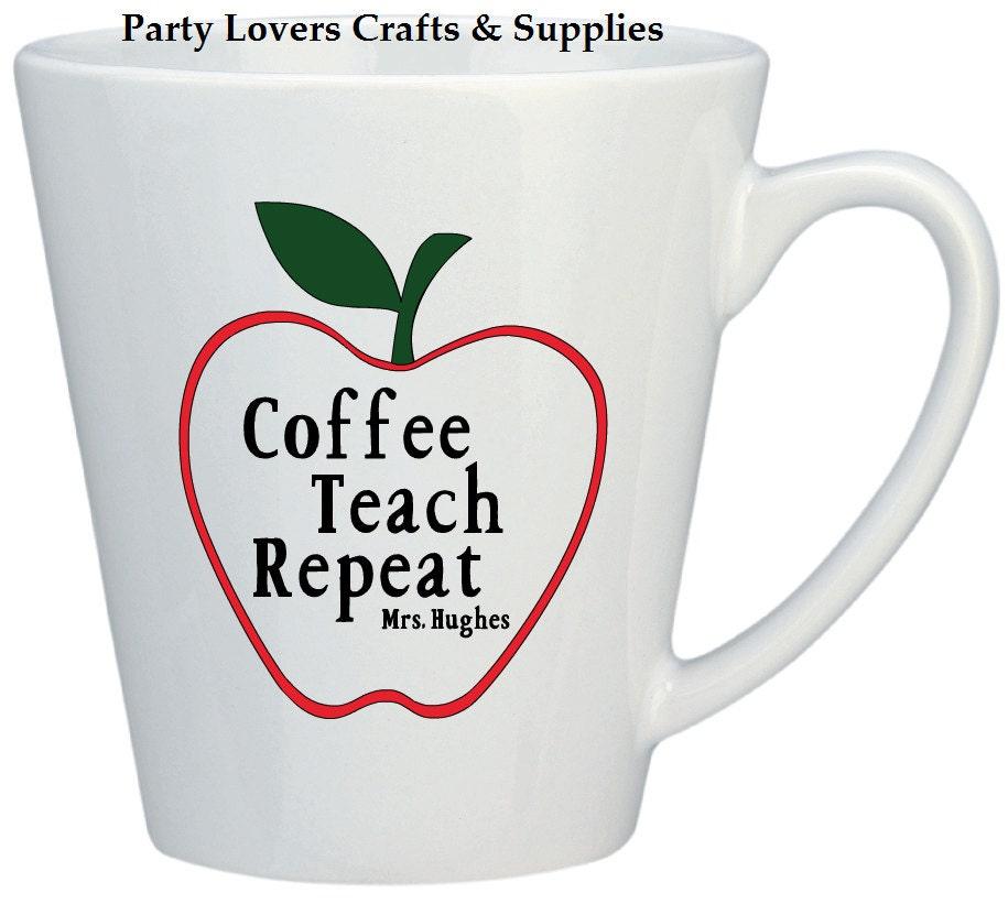 cadeau de professeur tasses caf personnalis professeur etsy. Black Bedroom Furniture Sets. Home Design Ideas