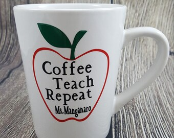 Teacher gift; Coffee Mugs; Personalized Teacher Coffee Mug; Teacher Coffee Mug gift; teacher appreciation mug gift; Personalized Teacher Mug