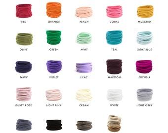 WHOLESALE Nylon Elastic Baby Headband / DIY Headband Newborn Skinny Very Stretchy One Size Fits most Nylon/spandex