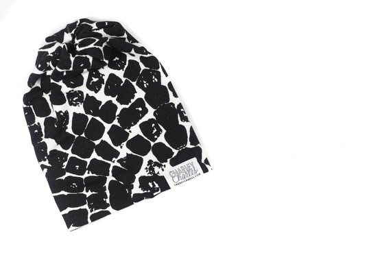 0a36347eace Gender Neutral Baby Hat Slouch Beanie Black and White