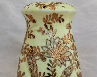 Antique Gold Moriage Ceramic Sugar Shaker/Muffineer - Morimura Bros. Japan - Circa 1911+