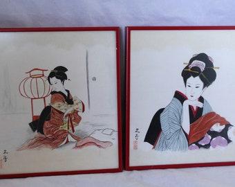 "Japanese Woodblock Art Ito Shinsui Two Geishas Canvas Print 16X12/"""