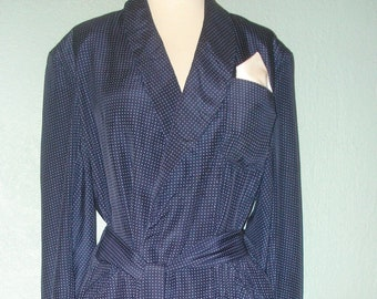 de2f0dd049bc Vtg. Silk Robe Housecoat Smoking Jacket Size M Designer Salgo London Bond  Street Tasseled Belt Tailored made in England