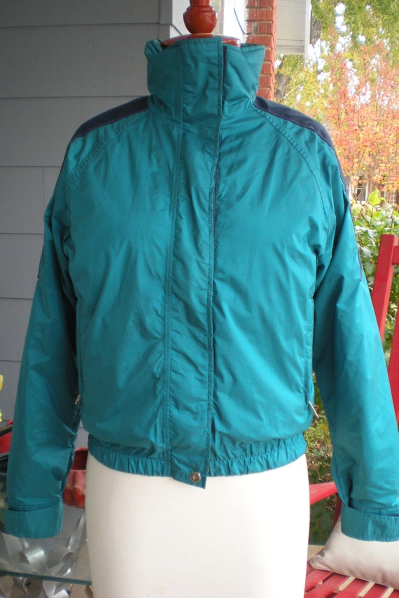 4ff01b6c36 The North Face Extreme Gore Tex Ski Jacket Size 8 Made in USA Blue Green  Navy Accent Embroidered red extreme