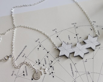Star cluster necklace in gold or silver