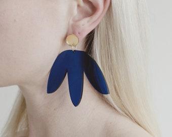 Matisse blue statement earrings