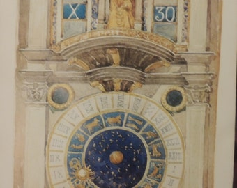maurice brazil prendergast - st marks square the clock tower print