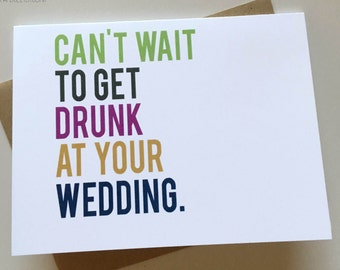 Funny Wedding Card - Cheeky Card for Newlyweds - Marriage Card - Card for Friends