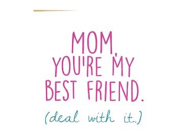 Mom Card - Mother's Day Card - Mom Birthday Card - Funny Mom Card - Card for Mother - Mother's Day